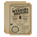The Victorian Steampunk Wedding Collection 13 Cm X 18 Cm Invitation Card