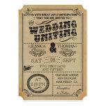 The Victorian Steampunk Wedding Collection 13 Cm X 18 Cm Invitation Card