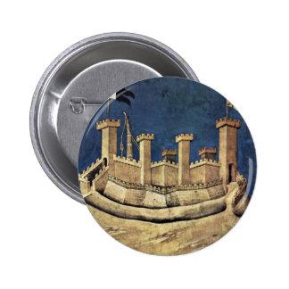 The Victorious General Guiddo Riccio Da Fogliano 6 Cm Round Badge