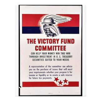 The Victory Fund Committee 21.5 Cm X 28 Cm Flyer