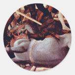 The Victory Over Bernardino Della Ciarda Detail Round Stickers