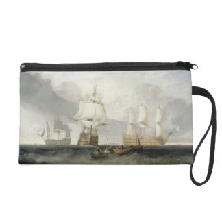 The 'Victory' Returning from Trafalgar, 1806 (oil Wristlet Clutches