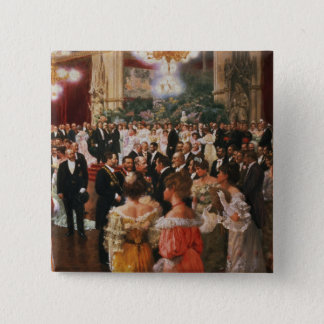 The Viennese Ball 15 Cm Square Badge