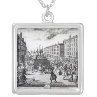 The View and Humours of Billingsgate, 1736 Silver Plated Necklace