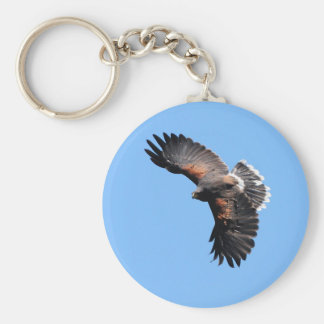 The view from above basic round button key ring