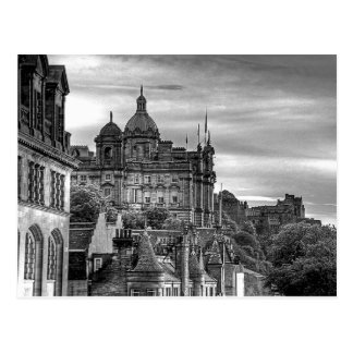 The view from the Scotsman - B&W Postcard