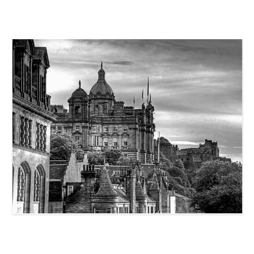 The view from the Scotsman - B&W Post Cards