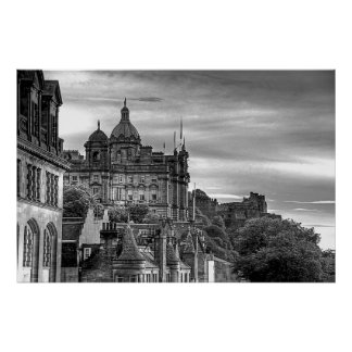 The view from the Scotsman - B&W Print