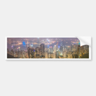 The view of Hong Kong from The Peak Bumper Stickers