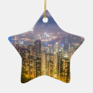 The view of Hong Kong from The Peak Ceramic Star Decoration