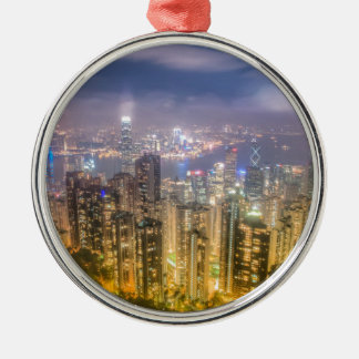 The view of Hong Kong from The Peak Silver-Colored Round Decoration