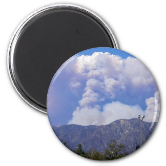 The View of the Hills Smoke Clouds_ Fridge Magnet