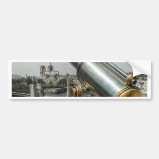 The view to Cathédrale Notre Dame, Paris France Bumper Sticker