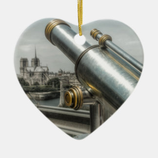 The view to Cathédrale Notre Dame, Paris France Christmas Ornament