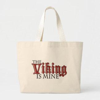 The Viking is Mine Jumbo Tote Bag