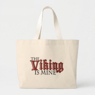 The Viking is Mine Large Tote Bag