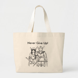 The Vikings - Never Give Up! Canvas Bags