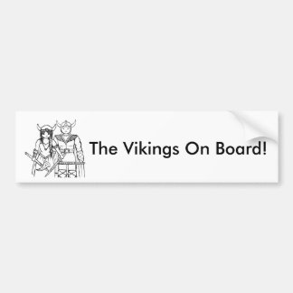 The Vikings - Never Give Up! Bumper Sticker