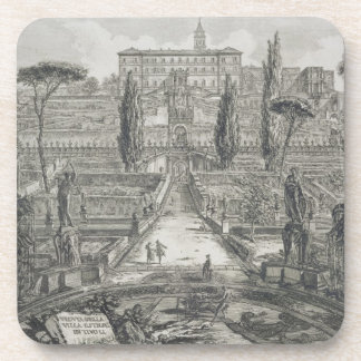 The Villa d'Este at Tivoli (engraving) Coaster