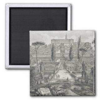 The Villa d'Este at Tivoli (engraving) Magnet