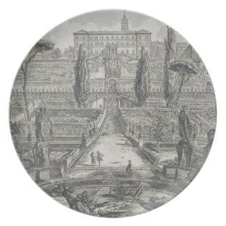 The Villa d'Este at Tivoli (engraving) Plate