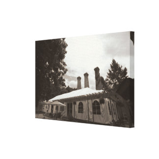 The Villa - Warehouse Turned Elegant Banquet Hall Stretched Canvas Print