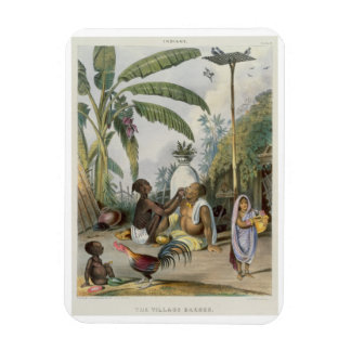 The Village Barber, plate 6 from 'Indians', engrav Magnet