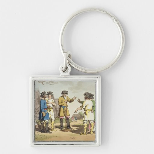The Village Council, etched by the artist, publish Keychains