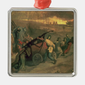 The Village Firemen, 1857 Silver-Colored Square Decoration
