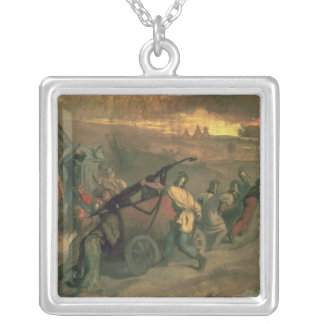 The Village Firemen, 1857 Silver Plated Necklace
