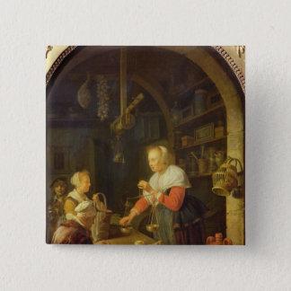 The Village Grocer, 1647 15 Cm Square Badge