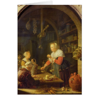 The Village Grocer 1647 Greeting Cards