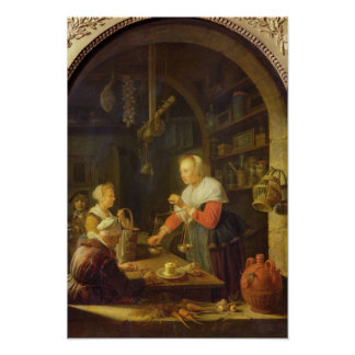 The Village Grocer 1647 Print