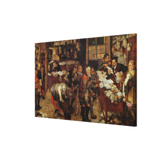 The Village Lawyer, 1621 Canvas Print