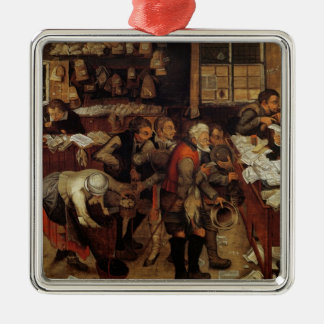 The Village Lawyer, 1621 Silver-Colored Square Decoration