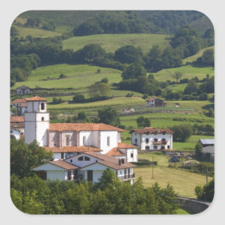 The village of Amaiur in the Baztan Valley of Square Sticker