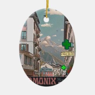 The Village of Chamonix - BonW Ceramic Oval Decoration