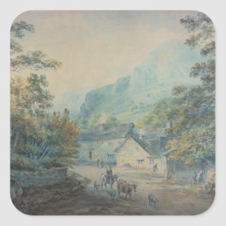 The Village of Rydal, Westmorland Square Sticker