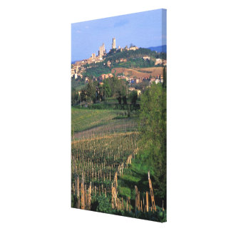 The village of San Gimignano sits in the rolling Canvas Print