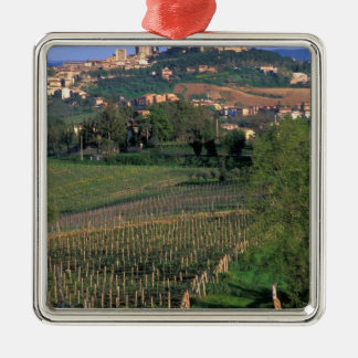 The village of San Gimignano sits in the rolling Christmas Ornament