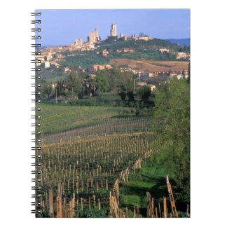 The village of San Gimignano sits in the rolling Notebook