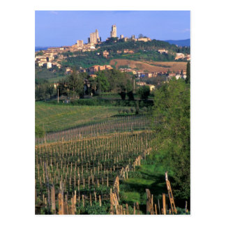 The village of San Gimignano sits in the rolling Post Cards