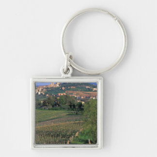 The village of San Gimignano sits in the rolling Silver-Colored Square Key Ring