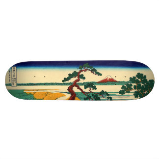 The village of Sekiya on the Sumida River 20 Cm Skateboard Deck