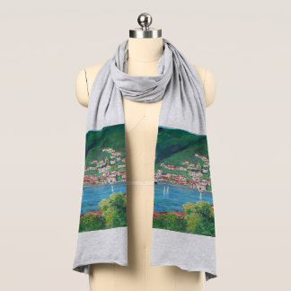 The village of Torno - Heather Grey Jersey Scarf