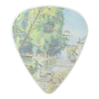 The Village (pastel on paper) Acetal Guitar Pick
