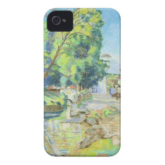 The Village (pastel on paper) iPhone 4 Cover