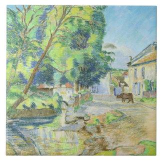 The Village (pastel on paper) Tile
