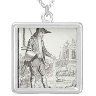 The Village Peasant, Born to Suffer, c.1780 Silver Plated Necklace