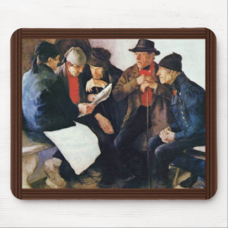 The Village Politicians By Leibl Wilhelm Mouse Pad